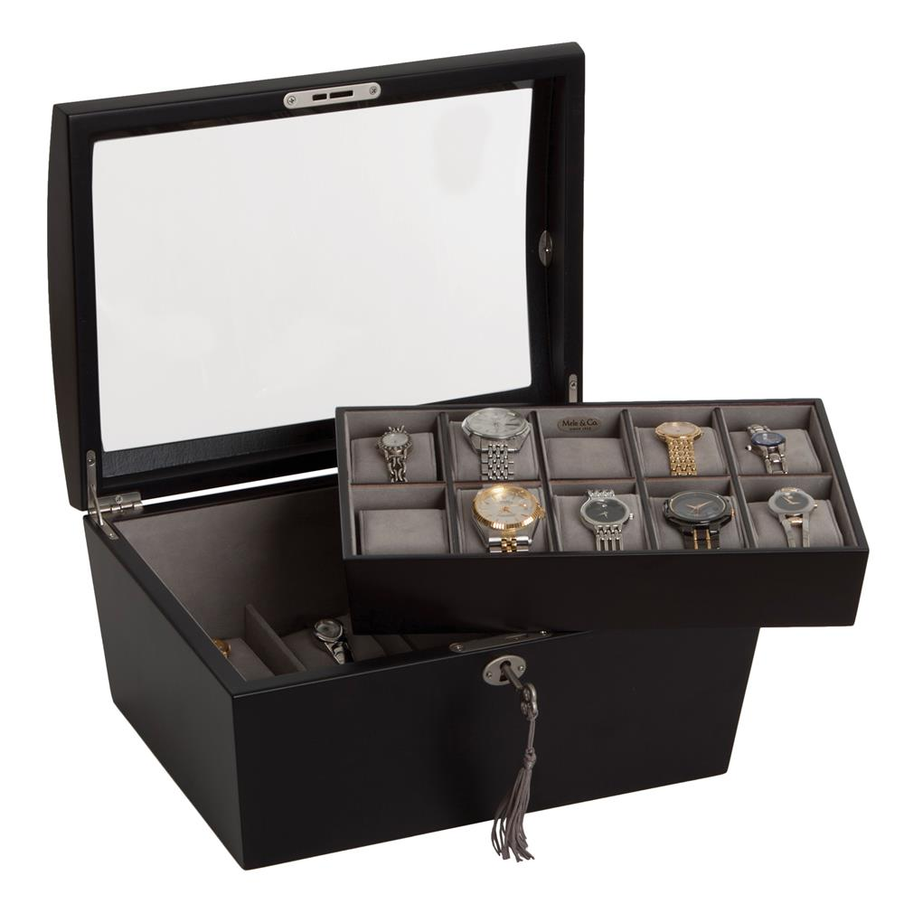 Royce Glass Top Watch Box
