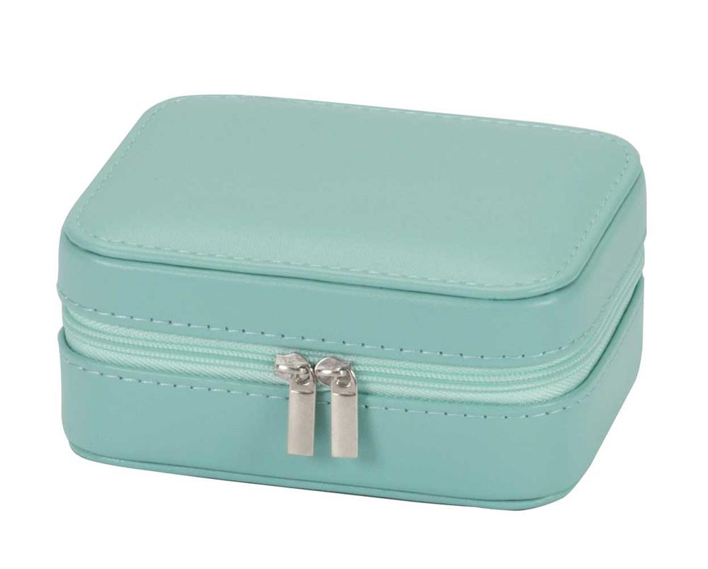 Cheryl faux velvet travel jewel case
