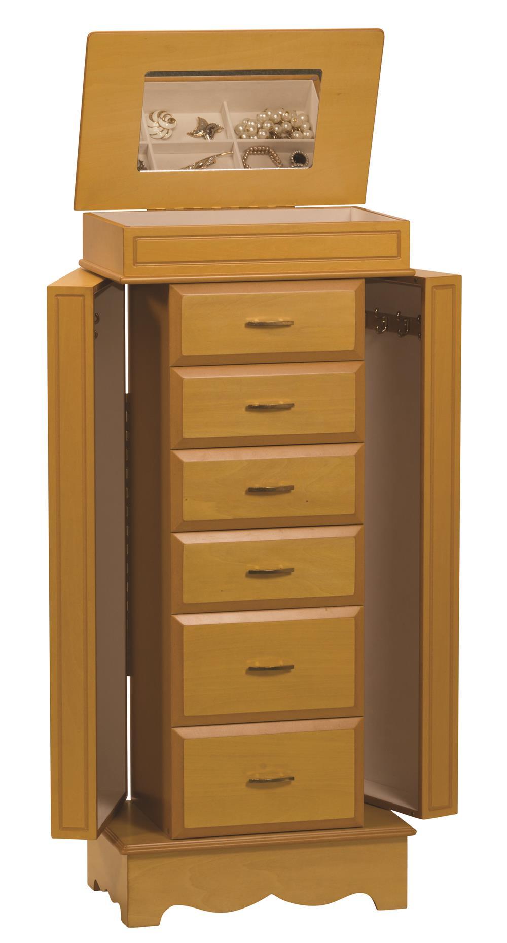 falkirk  maple jewellery armoire
