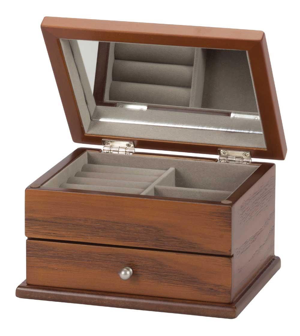 Diane Dark Beech finish wooden jewel case