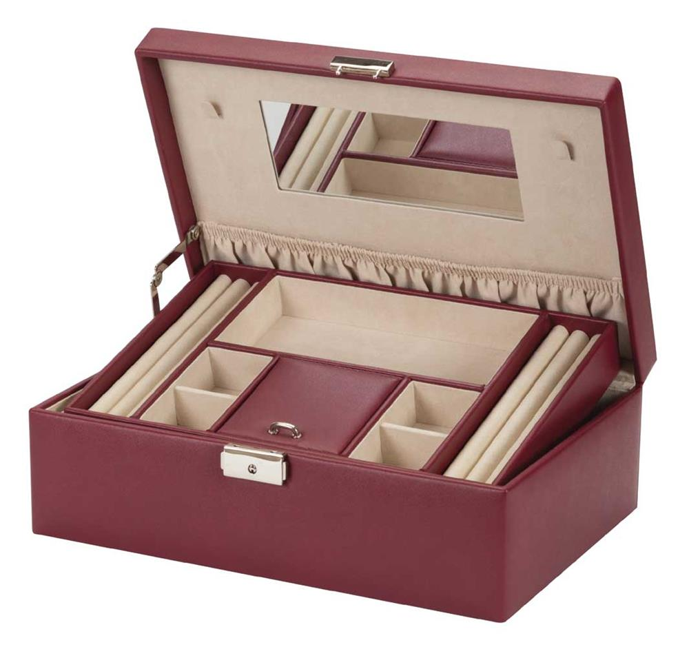 Bonny burgundy pu jewel case