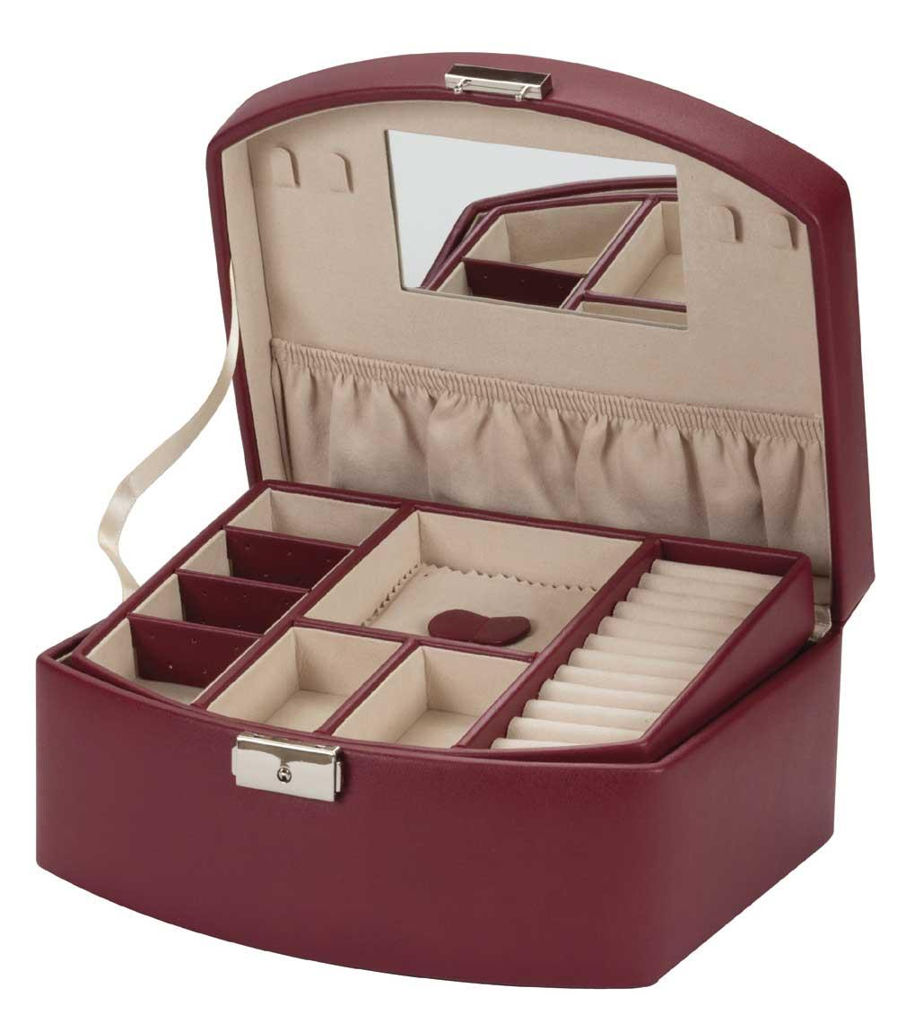 Beth burgundy PU jewel case