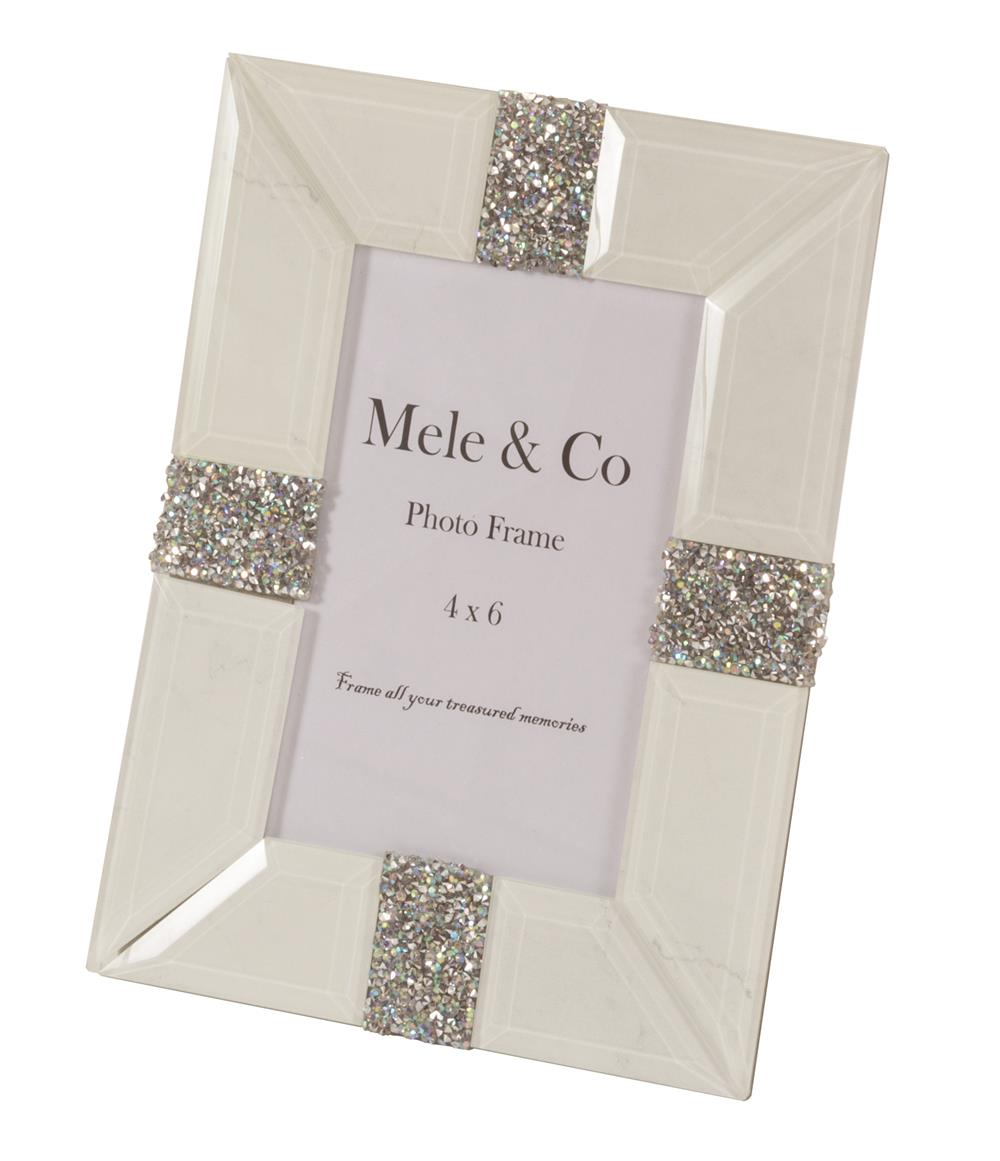 New - Trudy White marble effect photo frame