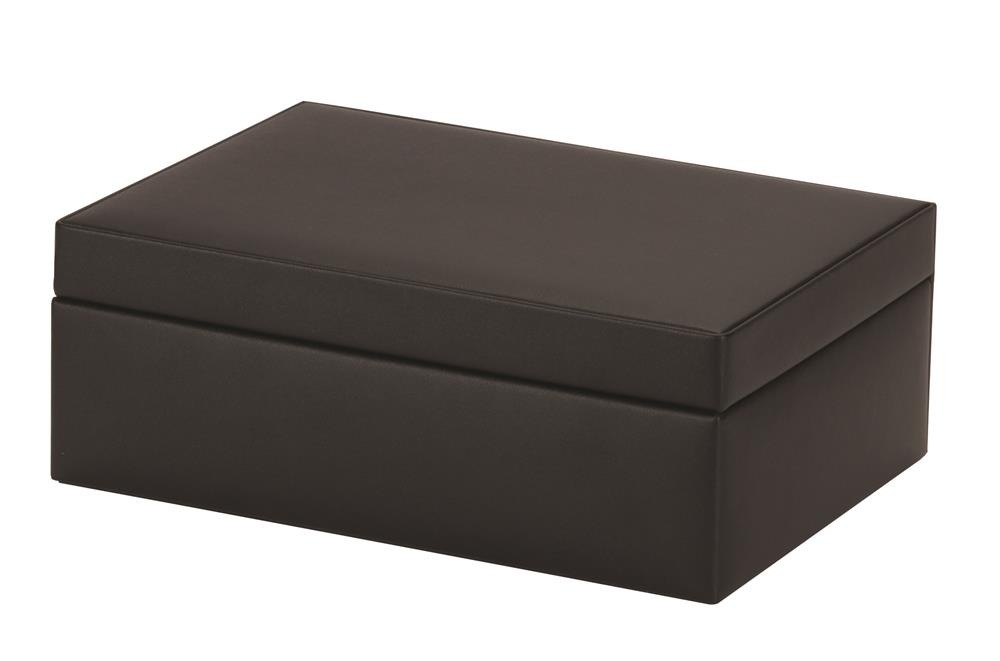 New - Karen black bonded leather jewel case