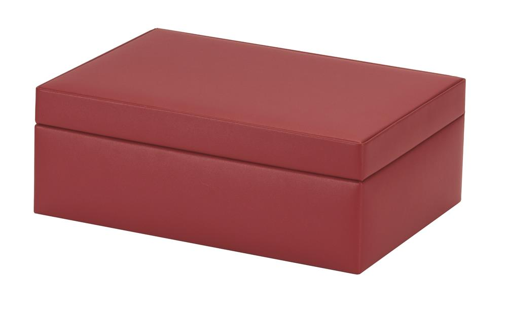 New - Olivia fiery red bonded leather jewel case