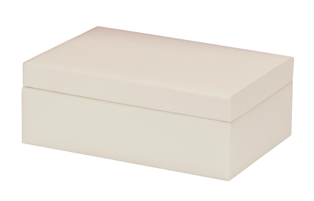 New - Fearne ivory bonded leather jewel case