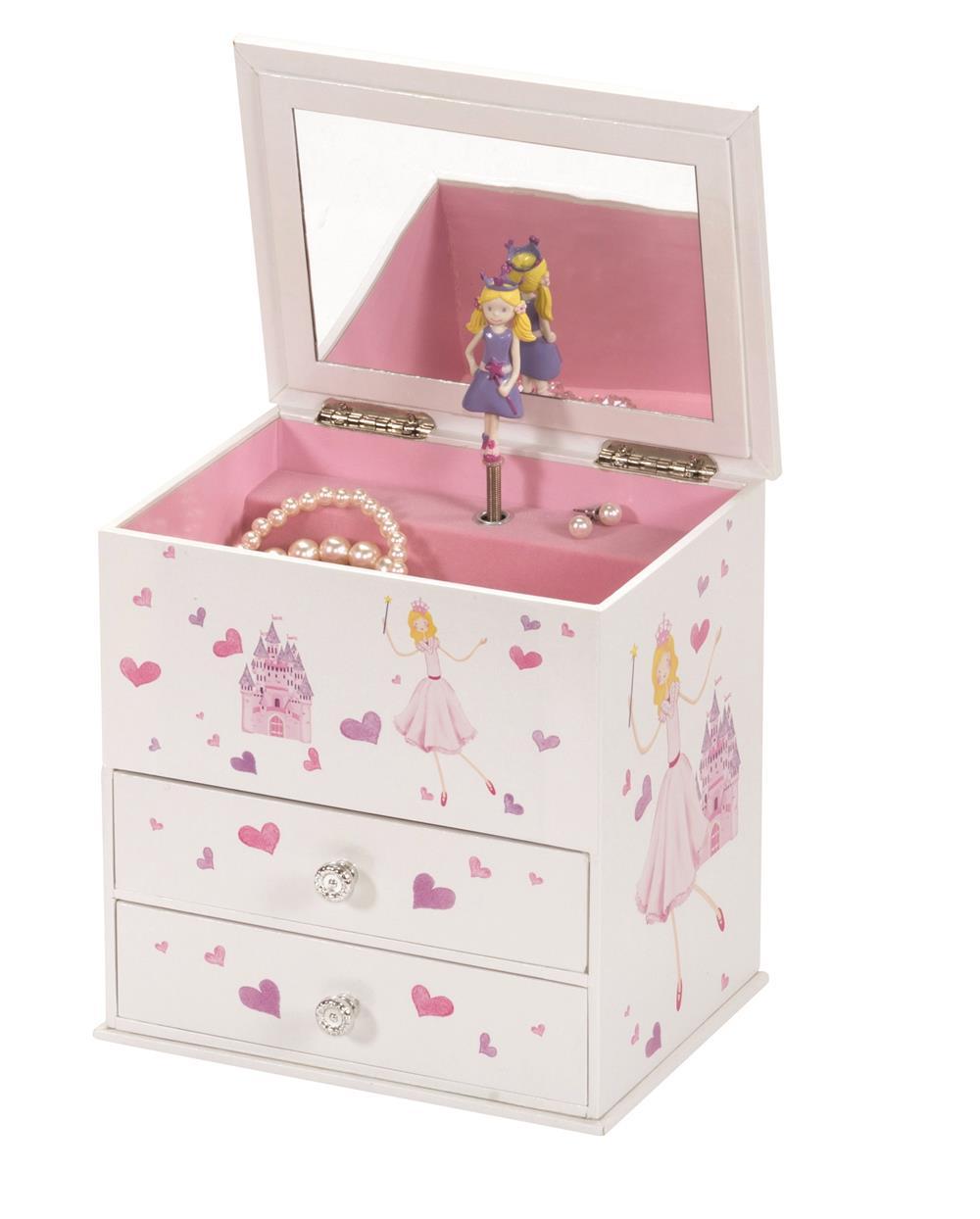 Beatrice princess and castle musical jewel box