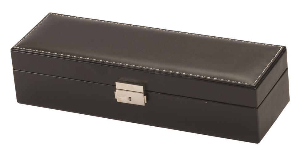 New - Billy Black PU 7 Watch Box