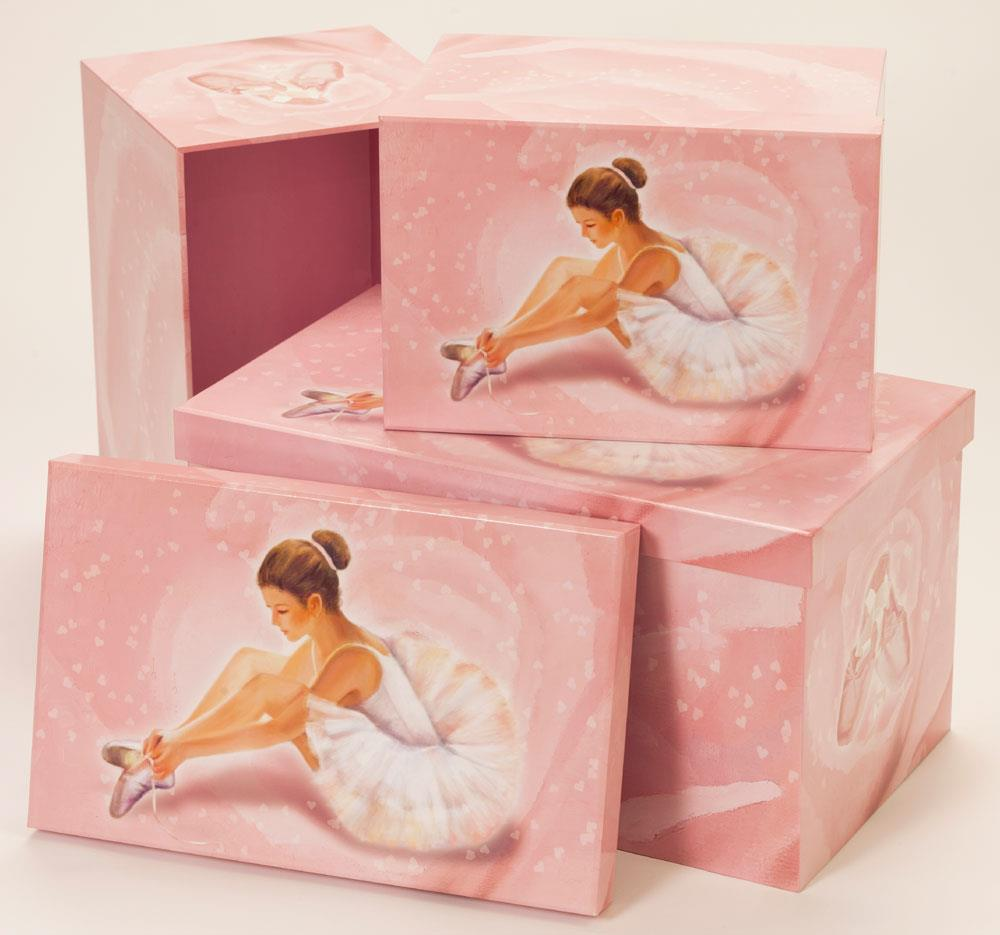 Ballerina collection storage boxes