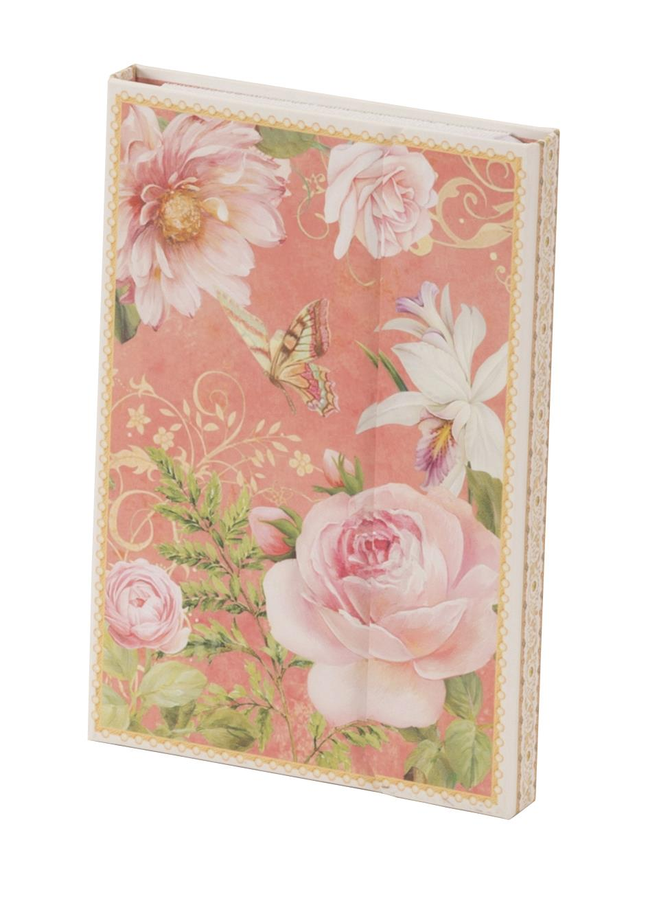 New - Vintage Rose Design Notepad and Shopping List Set
