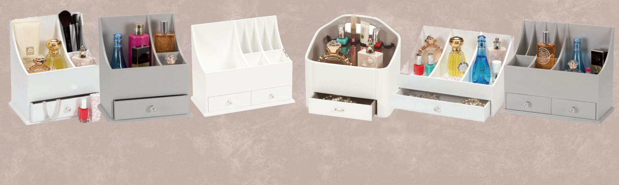 Stylish Makeup and Cosmetic Holders
